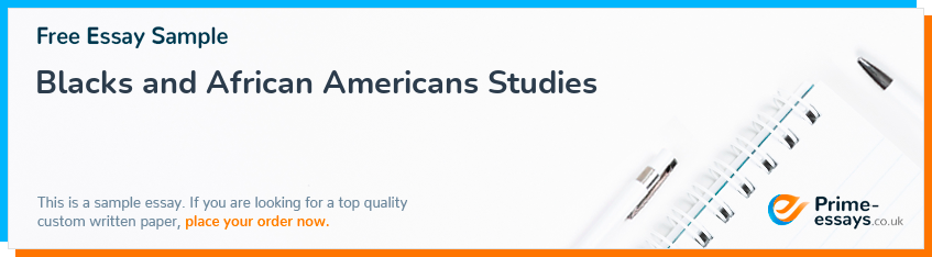 Blacks and African Americans Studies