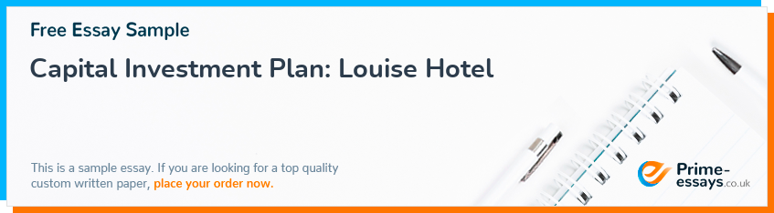 Capital Investment Plan: Louise Hotel