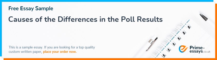 Causes of the Differences in the Poll Results