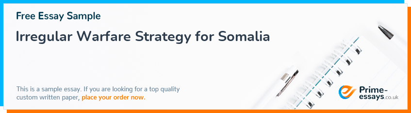 Irregular Warfare Strategy for Somalia