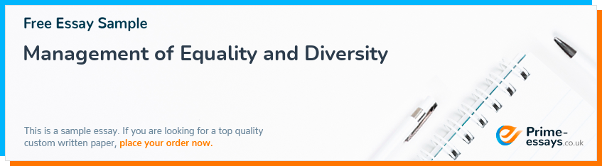 Management of Equality and Diversity