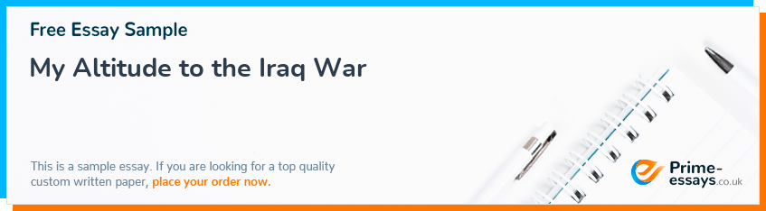 My Altitude to the Iraq War
